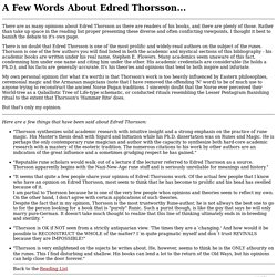 A Few Words About Edred Thorsson...