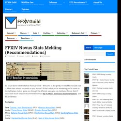 FFXIV Novus Stats Melding (Recommendations)
