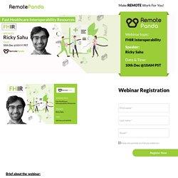 Webinar on Fast Healthcare Interoperability Resources