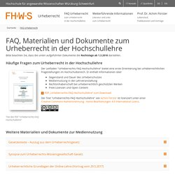 FHWS Urheberrecht