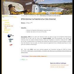 EFSI-Estimer la Fiabilité d'un Site Internet