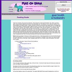 Fias Co Farm- Feeding your goats