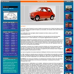 FIAT NUOVA 500 : Fiche 500 F