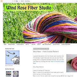 Deco Rose ~ Free Crochet Pattern