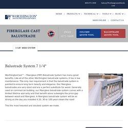 Fiberglass Balustrade System, FRP Balustrade, Fiberglass Balcony Railings
