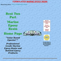 Best Marine Epoxy Resins - Commercial Grade Epoxies Home Site Pittsfield, NH