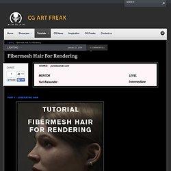 Fibermesh Hair For Rendering