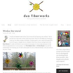 Duo Fiberworks - Duo Fiberworks - Window Star tutorial