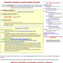 Fibonacci Numbers, the Golden section and the Golden String