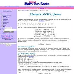 Fibonacci GCD's, please