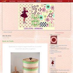 """déco-diy 2012 - Bouts de ficelle. - """"La vie en… - Je fais mes… - Quoi faire avec une… - Défilé de cupcakes. - Boîtes en fer - Le blog de Victoire"""