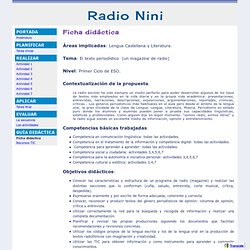 Ficha didáctica - Radio Nini