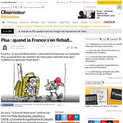 Pisa : quand la France s'en fichait...