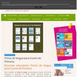 Fichas de lengua para Cuarto de Primaria -