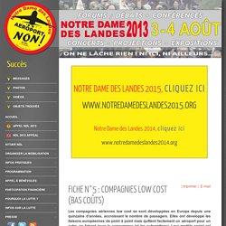 Fiche n°5 : Compagnies low cost (bas coûts) - Notre Dame des Landes 2013