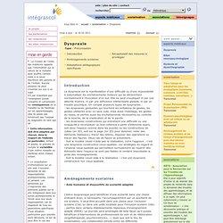 Fiche Dyspraxie - scolarisation