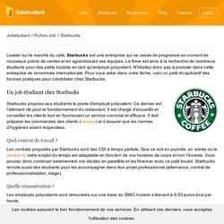 Fiche Emploi Starbucks