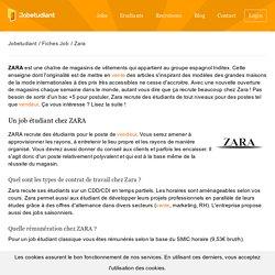 Fiche Emploi Zara
