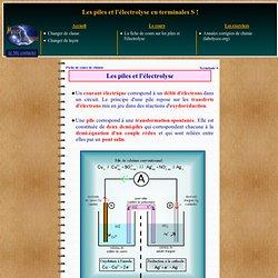 Fiche de cours gratuite sur les piles et l'électrolyse