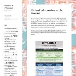 Fiche d'information sur le trauma
