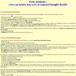 Fiche méthode du logiciel Google Earth