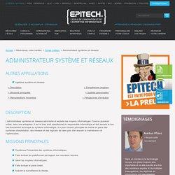 Fiche métier Administrateur système et réseaux
