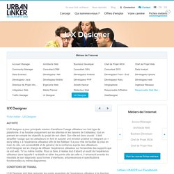 Fiche métier : UX Designer