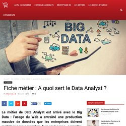 Fiche métier : A quoi sert le Data Analyst ?