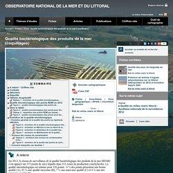 OBSERVATOIRE NATIONAL DE LA MER ET DU LITTORAL 08/04/14 Qualité bactériologique des produits de la mer (coquillages)
