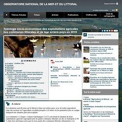 OBSERVATOIRE NATIONAL DE LA MER ET DU LITTORAL 06/06/13 Typologie socio-économique des exploitations agricoles des communes litt