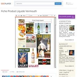 Fiche Produit Liquide Vermouth - PDF