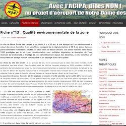 Fiche n°13 : Qualité environnementale de la zone