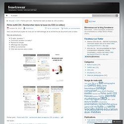Fiche outil CDI : Rechercher dans la base du CDI (e-sidoc) - Fenêtresur