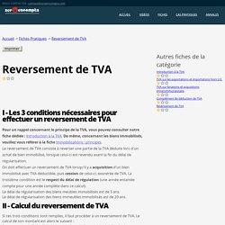 Fiche - Reversement de TVA