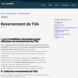 Reversement de TVA immeuble