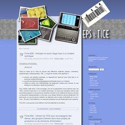 Fiches C2i2e - EPS et TICE