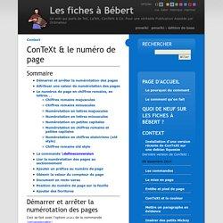 Les fiches à Bébert Context/Numéroter les pages sous ConTeXt