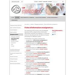 Fiches d'information - CIIP