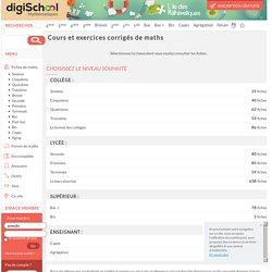 Digischool maths : fiches et exercices de mathématiques