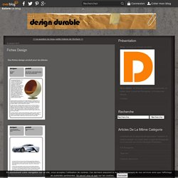 fiches design - Le blog de design-durable