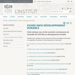 Fiches info développement durable
