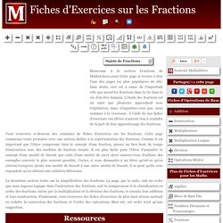 Fiches d'Exercices sur les Fractions