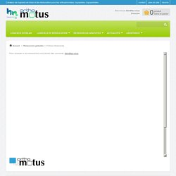 Fiches d'exercices - orthomotus
