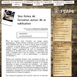 S'CAPE-Des fiches de formation autour de la ludification