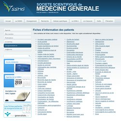 Fiches info patients