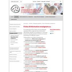 Fiches d'information enseignant.e.s - CIIP