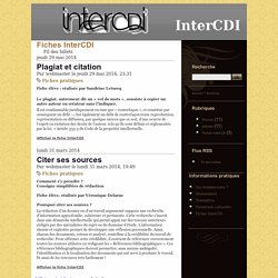 Fiches InterCDI - InterCDI