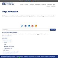 Fiches pédagogiques – Encyclopædia Universalis