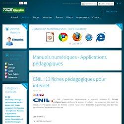 CNIL : 13 fiches pédagogiques pour internet