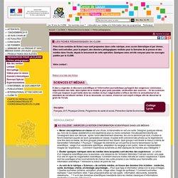 Sciences et médias - CLEMI